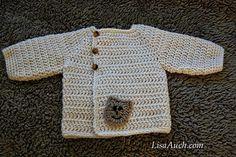 Easy Free Crochet Baby Cardigan Pattern