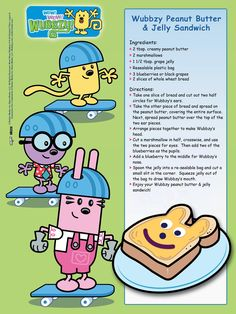 Wubbzy Peanut Butter and Jelly Sandwich!