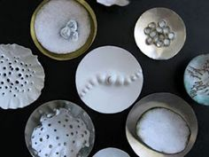 enamel jewellery - Isabelle Busnel: inspirational for nespresso medallion and poly clay