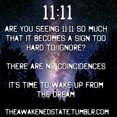 there are no coincidences. 11/11 is coming... #numerology #theawakening #11:11…