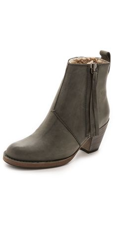 Acne Studios Pistol Ankle Boot with Shearling Lining | SHOPBOP