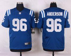 Men's NFL Indianapolis Colts #96 Henry Anderson Royal Blue Elite Jersey