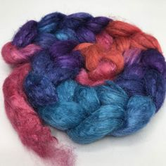 Quality Tussah Silk Sliver/Roving that is hand-painted in colorfast, distinctive Salt Spring Island colorways by Treenway Silks -- use in Silk Fusion, spinning, nuno felting, or any fiber arts. Unicorn Tail, Chimney Sweep, Nuno Felting, Fiber Art, Lana, Characters, Hand Painted, Silk, Board