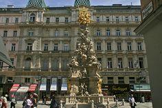 Columna de la peste o columna de la Trinidad. Proyecto de Fischer von Arlach y Ludovici Burnacini (1692)