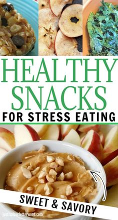 We know you're stress eating. We're here to help. Quitting emotional eating is a challenge. Here are some of the best healthy snacks for stress eating. Good Healthy Snacks, Yummy Snacks, Healthy Eating, Healthy Recipes, Snacks Recipes, Easy Recipes, Diet Recipes, Stress Eating, Stop Eating