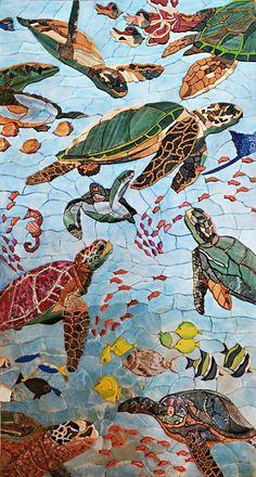 Sea Turtle Mosaic Wallpaper