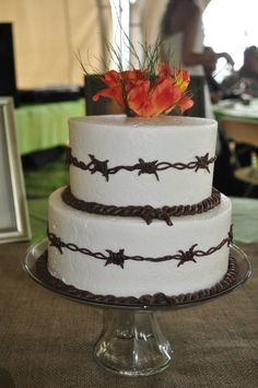 Barbwire Cake by McClain Creations