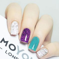 Geometric Nail Designs Ideas nagel purple and teal geometric nail art 2799609 weddbook Geometric Nail Designs. Here is Geometric Nail Designs Ideas for you. Elegant Nail Art, Beautiful Nail Art, Gorgeous Nails, Love Nails, Fun Nails, Dream Nails, Glitter Nails, Square Acrylic Nails, Square Nails