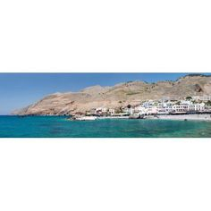 View of the Hora Sfakion Crete Greece Canvas Art - Panoramic Images (36 x 12)