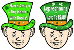 This reading bulletin board display for St. Patrick's Day and March comes with a leprechaun reading sticker chart.
