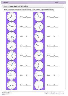 Un dossier complet ( de 21 pages) qui propose des exercices variés et évolutifs pour apprendre à lire l'heure, depuis le CP jusqu'au CM2.