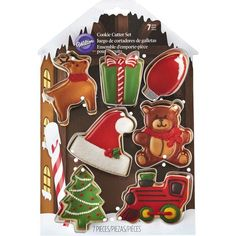 Another great find on Silver Holiday Cookie Cutter Set by Wilton Christmas Tree Cookies, Christmas Cookie Cutters, Christmas Mugs, Holiday Cookies, Holiday Treats, Christmas Ideas, Xmas, Candy Cane Cookies, Fun Cookies