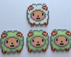 Fruit Magnets Perler Bead by PixelPrecious on Etsy