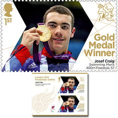 Large image of the ParalympicsGB Gold Medal Winner Miniature Sheet - Josef Craig