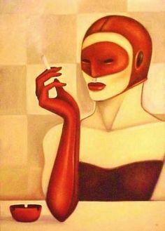 Mulher Fumando por Edson Carra
