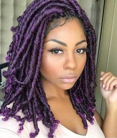 60 Easy and Showy Protective Hairstyles for Natural Hair Beautiful Colored Fauxlocs Faux Locs Hairstyles, Protective Hairstyles For Natural Hair, My Hairstyle, African Hairstyles, Cool Hairstyles, Hairstyles 2018, Hairstyle Ideas, Teenage Hairstyles, Gorgeous Hairstyles