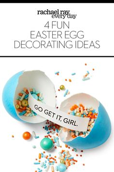 Easter Egg Decorating Ideas - Rachael Ray Every Day Diy Craft Projects, Decor Crafts, Diy Crafts, Craft Ideas, Do It Yourself Crafts, Egg Decorating, Easter Eggs, Birthday Cake, Desserts
