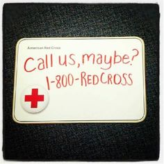 This Is GREAT Love That American Red Cross Or Someone At A Local Org