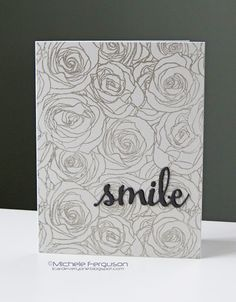 I Card Everyone : MFT Roses all over Bkgrd Stmp