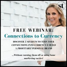What if leveraging relationships wasn't a tough row to hoe?  DISCOVER 5 SECRETS TO TURN YOUR CONNECTIONS INTO CURRENCY & BUILD A PROFITABLE PERSONAL BRAND Rapidly Position yourself as an AUTHORITY in your field without waiting another 5 years The MUST HAVE income generating strategy for every business And best of all… learn how to get endorsed by industry experts and level-up FAST!