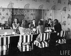 Stork Club Powder Room in New York 1940's
