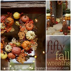 Fifty Fall Wreath Ideas & Inspiration For the Entire Autumn Season #fall #wreaths