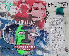 JEAN MICHEL BASQUIAT- photoshopped Jean Michel Basquiat, Jm Basquiat, Basquiat Tattoo, Life Paint, Andy Warhol, Vincent Van Gogh, American Artists, Les Oeuvres, Pop Art