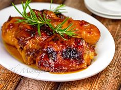 Apricot chicken is tangy and sticky and a flavor sensation. Asiago Chicken, Rosemary Chicken, Duck Recipes, Turkey Recipes, Fancy Recipes, Kale Recipes, Bacon Recipes, Simple Recipes, Appetizer Recipes