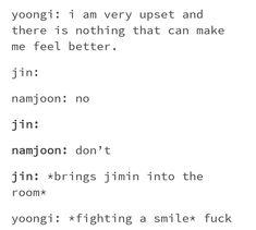 AAAAAAA love how my Yoongi has a high-key soft spot for my Baby