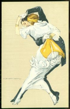 Dudovich Art Deco Postcard Dance Woman in White | eBay