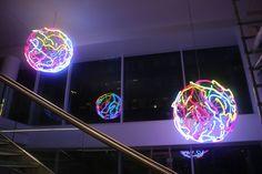 Ferris Wheel, Fair Grounds, Neon Signs