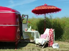 camping in red