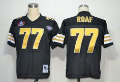 New Orleans Saints 77 Willie Roaf Black 2012 NFL Pro Football Hall of Fame Authentic Throwback Jerseys:$21