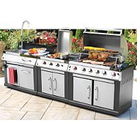 Master Forge 4 Burner Outdoor Modular Kitchen Gas Grill