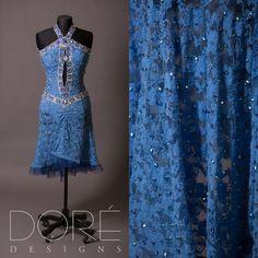Light blue latin dress #doredesign