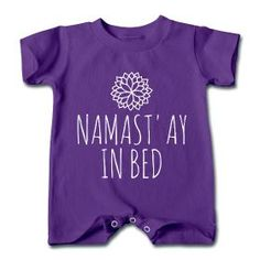 Namast'ay In Bed Baby Onesie #workoutclothes #workout #fitnessclothes #fitnessfashion #yoga | Fit Bottomed Girls