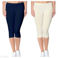 Capris Trendy Cotton Lycra Capris Leggings Fabric: Cotton Lycra Size: Up To 28 in to 36 in( Free Size) Length: Up To 34 in  Type: Stitched Description: It Has 2 Piece Of Women's Capris Pattern: Solid Country of Origin: India Sizes Available: Free Size, 24, 26, 28, 30, 32 *Proof of Safe Delivery! Click to know on Safety Standards of Delivery Partners- https://ltl.sh/y_nZrAV3  Catalog Rating: ★4 (2888)  Catalog Name: Alice Trendy Cotton Lycra Capris Combo Leggings CatalogID_136944 C79-SC1037 Code: 742-1110963-