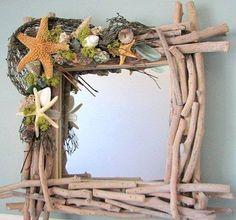 Wreath square from twigs beachy