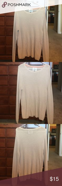 Cotton on knit sweater Basic tan sweater. Very comfy. Size L. From Cotton On. Great condition Cotton On Sweaters Crew & Scoop Necks