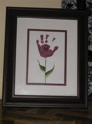 to do with Cam- hand print flower