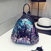 289ad415c12f Маленький женский рюкзак в паетках | Одяг,взуття,аксесуари в 2019 г ...