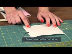 ▶ Quilty: how to make a quilt label - YouTube