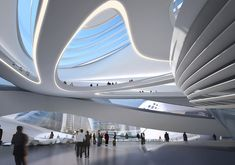 Image 4 of 8 from gallery of Changsha Meixihu International Culture and Art Centre / Zaha Hadid Architects. Photograph by Zaha Hadid Architects Zaha Hadid Architecture, Architecture Durable, Post Modern Architecture, Chinese Architecture, Concept Architecture, Futuristic Architecture, Sustainable Architecture, Interior Architecture, Innovative Architecture
