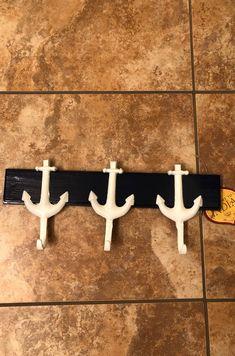 Three hook anchor towel rack