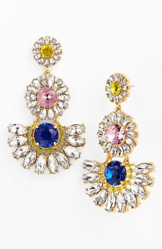 Oh, so pretty | Kate Spade flower chandelier earrings.