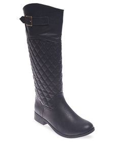 Quilted Faux Leather Riding Boots | Wet Seal