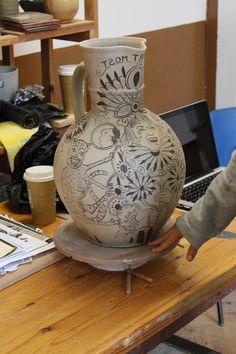 In the making Michelle Erikson's Grayson pot. Vase, Home Decor, Decoration Home, Room Decor, Vases, Home Interior Design, Home Decoration, Interior Design, Jars
