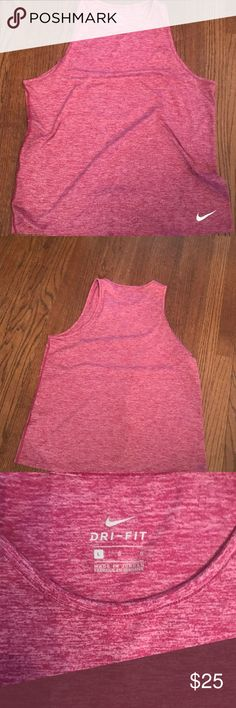 NWOT!! Nike Tank! NWOT! Cute Nike Tank in a Raspberry colored space dye fabric. Perfect for your 2018 fitness routine.  Soft, wicking fabric.  I bought this new but never wore. Nike Tops