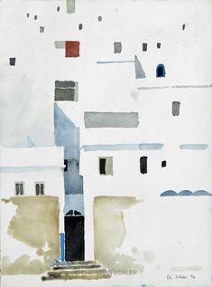 Medina I, Tetouan, 2017 - Harvey Clark Watercolor Architecture, Watercolor Landscape, Landscape Paintings, Watercolor Sketch, Watercolor Illustration, Watercolor Paintings, Watercolors, Visual Arts Center, Urban Sketching