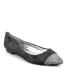 Take a look at the Black & Silver Beloza Flat on #zulily today!